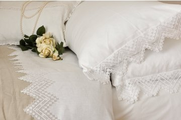 Mulberry Hill Home in Vancouver: Hand Embroidered Italian Linens