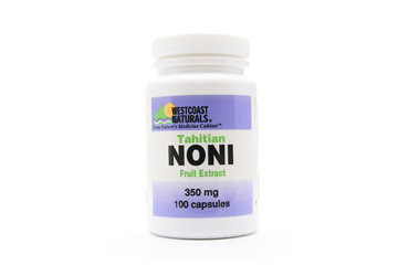 Westcoast Naturals in Richmond: Tahitian Noni Fruit Extract 350 mg 100 caps