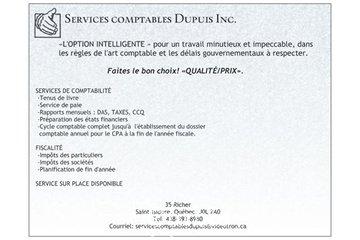 Services comptables Dupuis Inc. à Saint-Isidore