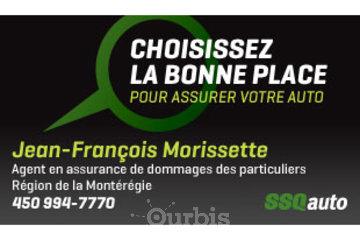 Jean-François Morissette, agent en assurance de dommages des particuliers affiliés à SSQauto