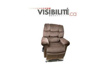 VISIBILITÉ (Agence Visibilité) in Longueuil: VISIBILITÉ - Fauteuil autosouleveur - Tissus ou cuir - www.visibilite.ca - 450.677.1441