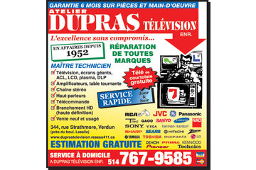 Reparation TV Repair Dupras Television