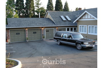 Burquitlam Funeral Home in Coquitlam: View of the back of Burquitlam Funeral Home