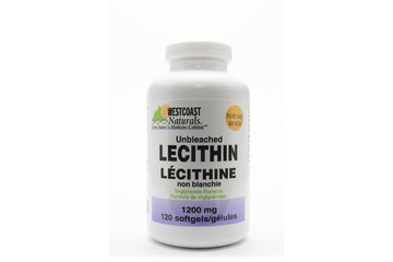 Westcoast Naturals in Richmond: Unbleached Lecithin 1200 mg 120 sftg