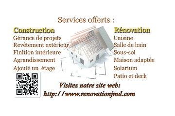 Rénovation JMD inc à Mirabel: Services offerts