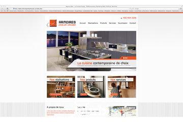 Groupe Rouge Agence Web à Montréal: Armoires Lecuyer