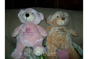 Foothills Custom Promotionals in High River: Embroidered Names on Teddy Bears