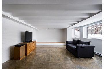 Atelier B Comptoir Polissage in Montréal: plancher de béton poli