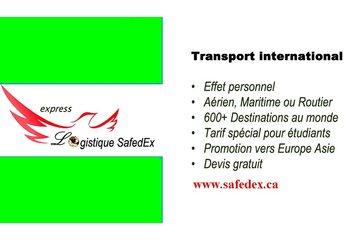 SAFE-CARGO à Montréal: transport de bagage Montreal France