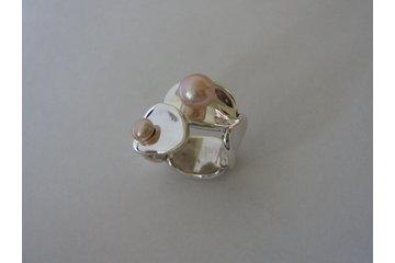 Bijoux Collection Vianna à Montréal: Bague en argent avec perles Collection FingerPrint
