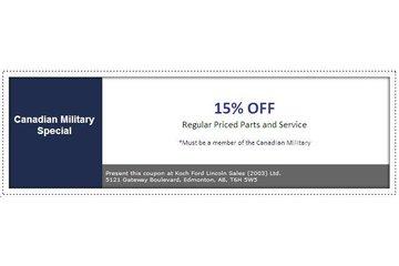 Koch Ford Lincoln Sales (2003) Ltd à Edmonton: Canadian Military Discount