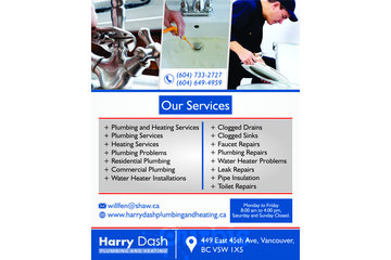 Harry Dash Plumbing | Water Heater Installations Vancouver