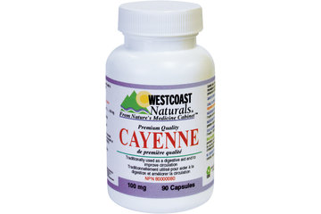 Westcoast Naturals in Richmond: Cayenne 100 mg 90 caps