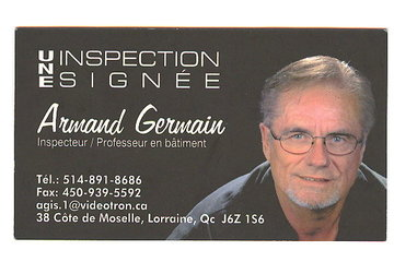 Armand Germain Inspecteur en Batiment à Lorraine