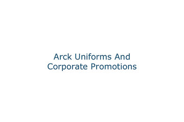 Arck Uniforms And Corporate Promotions