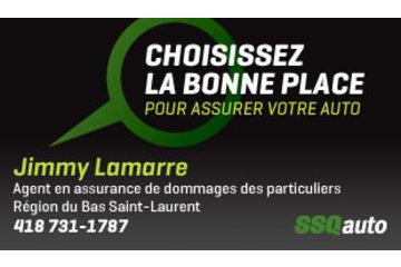 Jimmy Lamarre, agent en assurance de dommages des particuliers affilié à SSQauto