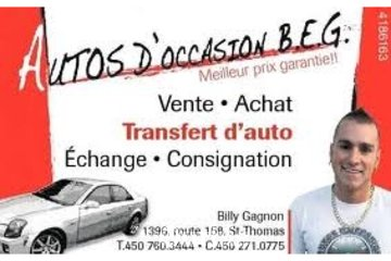 autos d occasion b.e.g  inc