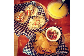 La Casita Tacos in Vancouver: 2 Baja tacos, Salsa & Chips and mango margarita in West End Vancouver BC