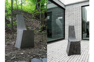 Atelier B Comptoir Polissage in Montréal: chaise en béton