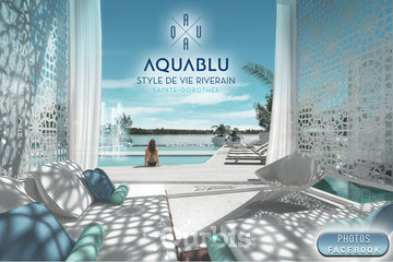 Condos AquaBlu à Laval: AQUABLU Condominiums picturesque heated outdoor pool