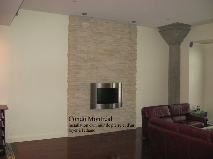 Beaudoin r novation l 39 entrepreneur inc marieville qc for Decoration foyer electrique et television
