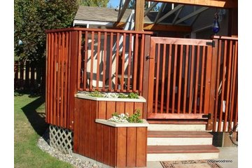 Ridgewood Construction in Victoria: Custom Spindle Deck with gate
