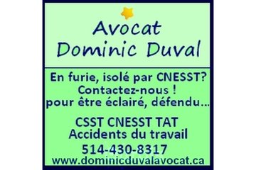Dominic Duval - Avocat ( CNESST CSST Accient de travail )