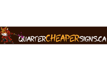 Quarter Cheaper Signs
