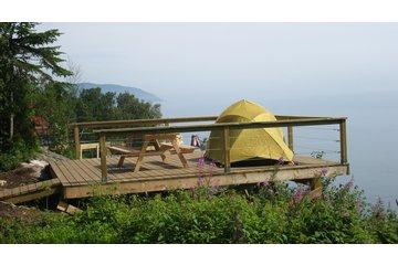 Camping Falaise Sur Mer à Saint-Siméon: Terrasse no2