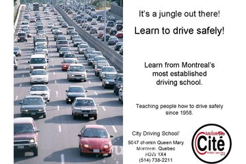City Driving School à Montréal: Driving Schools in Montreal | Safe Driving Techniques since 1958