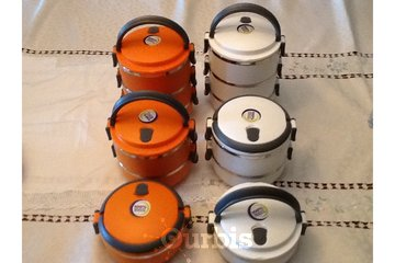 Chef~Exprez Biz Center in North Vancouver: Stainless Steel Food Storage Lunch Container (3 in set) 75% off