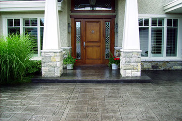 Concrete Only Restoration Services in Coquitlam: Recolouring Stamped Concrete