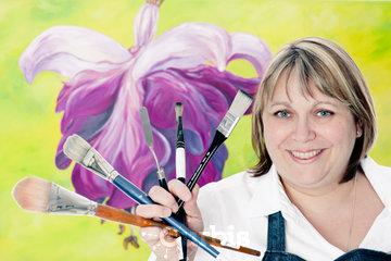 L'Artiste-peintre Céline Roger