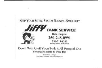Jiffy Tank Septic Service