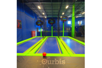 Air Riderz Trampoline Park in Mississauga: Basketball Area