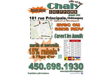 Chaly Coiffure à Châteauguay: Nouveaux locaux 181 rue Principale, Châteauguay