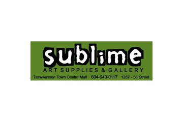 Sublime Art Supplies & Gallery in Delta: Sublime Art Supplies & Gallery