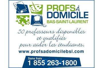 Profs à domicile Bas Saint-Laurent