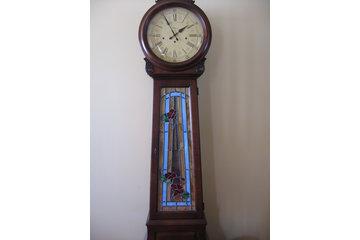 vitrail art & passion à Saint-Urbain-Premier: porte d'horloge grand mère