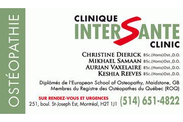 Reeves Keshia BSc.(Hons)Osteopathy, D.O. in Montréal: Clinique Intersanté