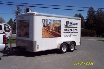 Dale Image & Display Solutions in Stittsville: Vehicles graphics on a client's trailer.