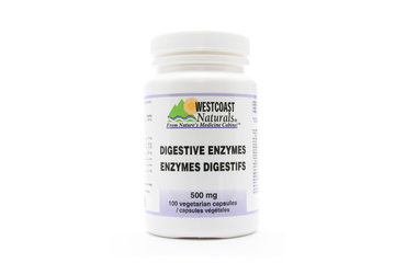 Westcoast Naturals in Richmond: Digestive Enzymes 500 mg 100 vcaps