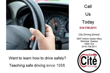 City Driving School à Montréal: Montreal Driving Schools since 1958