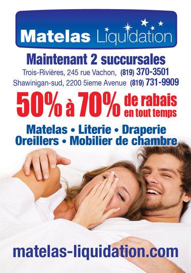 Matelas liquidation cap de la madeleine qc ourbis for Liquidation de matelas