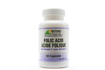 Westcoast Naturals in Richmond: Folic Acid with Vitamin C 50 caps