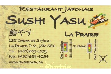 Sushi Yasu in La Prairie: Carte d'affaire