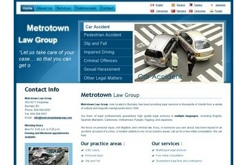 Burnaby Lawyers, Car accident, Impaired driving, Criminal law, Insurance claims - MetroTown Law Group