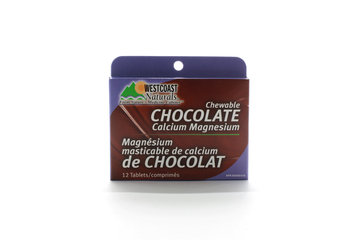Westcoast Naturals in Richmond: Chocolate Calcium Magnesium (Blister Pack) 12 tabs