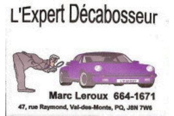 L'Expert Décabosseur Marc Leroux à Val-des-Monts: voici ma carte d'affaire
