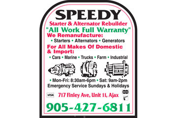 Speedy Starter & Alternator Rebuilder